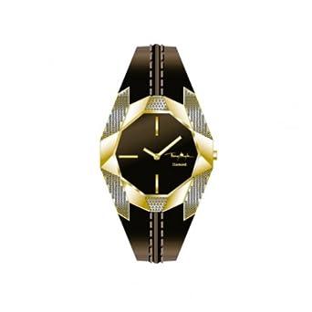 Thierry Mugler Damen-Armbanduhr Analog Quarz Leder 4703406