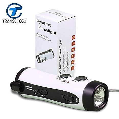 Linterna dinamo LED multifuncional, blanca, verde, para ...