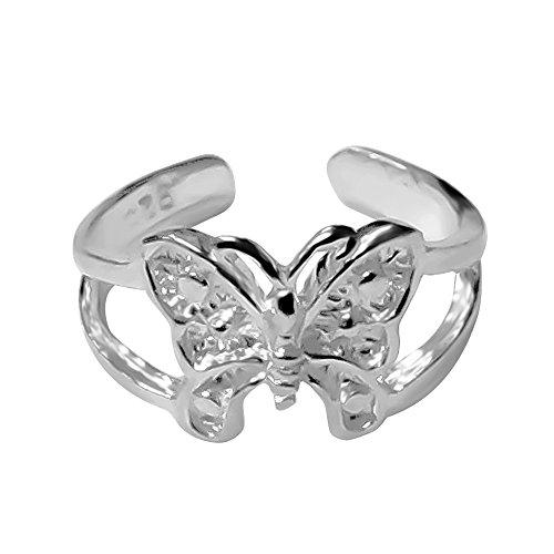 Sterling Silver Butterfly Toe (Butterfly Silver Toe Ring)
