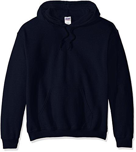 Gildan Men's Fleece Hooded Sweatshirt, Navy, Small