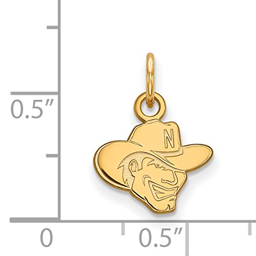 10k Yellow Gold University of Nebraska Cornhuskers School Mascot Head Pendant 10x12mm