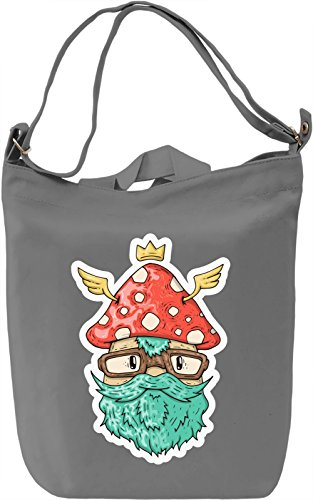 Mushroom guy Borsa Giornaliera Canvas Canvas Day Bag| 100% Premium Cotton Canvas| DTG Printing|