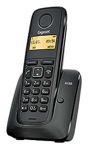 Siemens Gigaset A120 DUO Color negro teléfono inalámbrico + supletorio