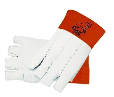MCR Safety 4840M Red Ram Premium Grade Grain Goatskin MIG/TIG Welder Gloves with 5-Inch Russet Split Bell Cow Cuff, Yellow, Medium, 1-Pair