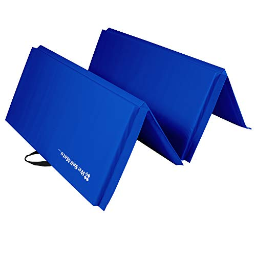 We Sell Mats Lightweight Folding 2 Inch Thick Fitness & Exercise Mat, 4' x 8', Blue