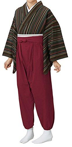 踊り衣裳 袴式本モンペ無地 モ印 オレンジ レディース 洗える着物