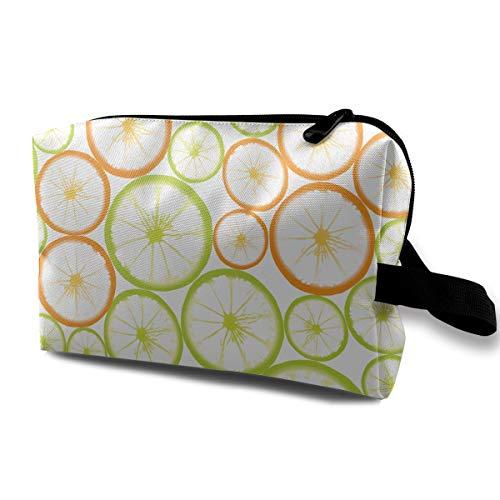 (Fruit-Slices Cosmetic Bags Makeup Organizer Bag Pouch Zipper Purse Handbag Clutch Bag)