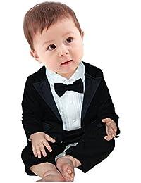 Baby Boy's 2Pcs Gentleman Romper Wedding Formal Tuxedo Suit Outfit Set