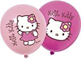 Hello Kitty Bamboo Theme 12 Inches Printed Latex Balloons - Pack of 12