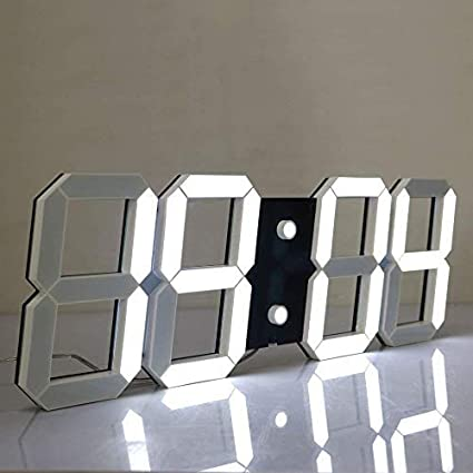 Multifunction Led Clock White Shell White Digital Big Thermometer Chihai Electronic Co Countdown Led Clock CHKOSDA Remote Control Jumbo Digital Led Wall Clock Ltd CH3386-W-W Mute Clock Minute Alarm Clock Large Calendar