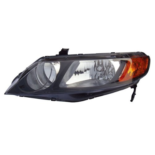 06-08 Civic Sedan 4DR Headlight Headlamp Front Head Light Lamp Left Driver Side ()