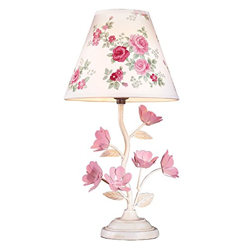 Pink Rose Blossom Table Lamp