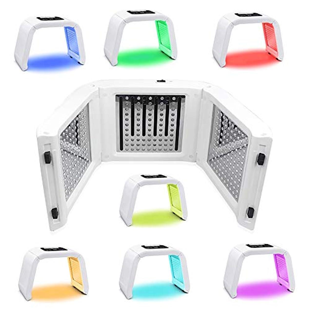 子犬呪い傀儡7色LEDマスク光線療法美容機器光線力学マスク機器分光計肌の若返りデバイス,7