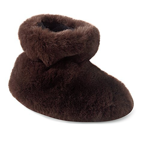 (Acorn A10918 Kids Tex Easy Bootie Slipper,Brown Bear,TXL)
