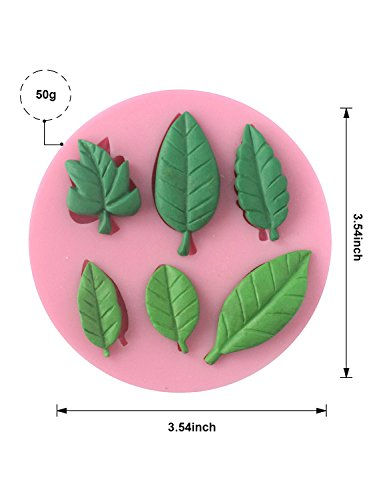 Sharlity 4Pcs Assorted Leaf Silicone Candy Mold for Sugarcraft Chocolate Fondant Resin Polymer Clay by Sharlity (Image #3)'