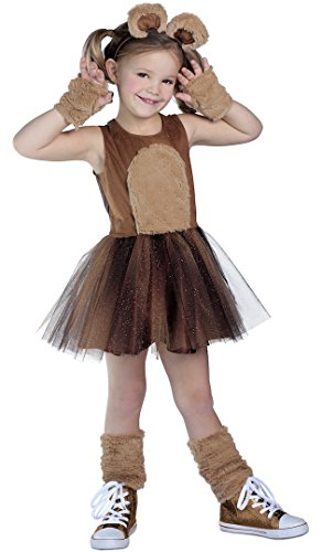 [Brown Bear Costume Tutu Dress] (Yogi Bear Halloween Costume)