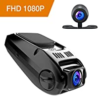 APEMAN Dual Dash Cam Car Video Recorder 1080P Full HD Car Camera 170 Degree Wide Angle with Loop Recording, Motion Detection, WDR and G-Sensor, Support External GPS Module