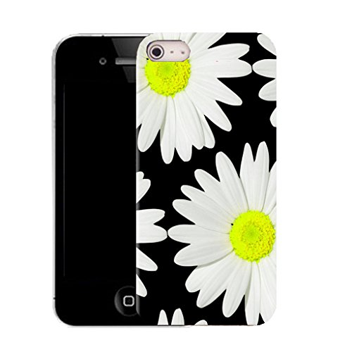 Mobile Case Mate IPhone 4s clip on Silicone Coque couverture case cover Pare-chocs + STYLET - big daisy pattern (SILICON)