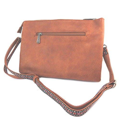 Bolsa bolsa 'Les Tropéziennes'marrón (2 compartimentos)- 29.5x20.5x3.5 cm.