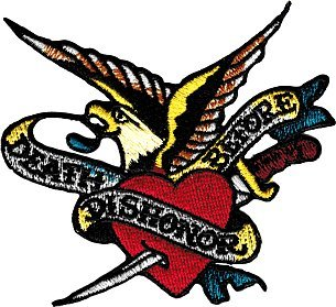 Tattoo Art - Death before Dishonor Eagle Heart Military Logo Patch