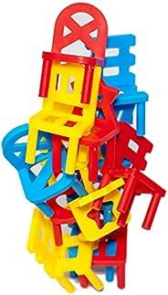 Stacking Chair Game,Tension, Excitement, Balancing Games, Stacking Games, Parties, Fun,15 pcs