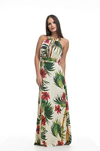 0a3cfeb8c0 Vestido Clara Arruda Longo Decote Costa Estampado 50237 - P - Bamboo ...