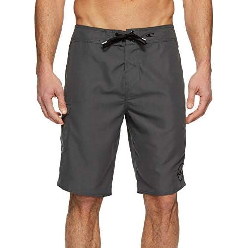 "New O/'NEILL board shorts swim trunks solid black Santa Cruz sz 32 length 20.5/"""