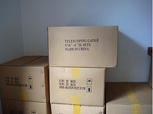 [해외]3-13mm (1 8 -1 2) 미니 텔레스코픽 게이지 세트, 4 개 세트, 볼 헤드 타입, 내부 게이지/3-13mm( 1 8 -1 2 ) mini Telescoping Gauge set, 4pcs set, ball