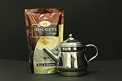 Bhavani Koffee Kettle Drip Filter 1.0 - 3 cups + Nuggets Authentic Filter coffee 250g