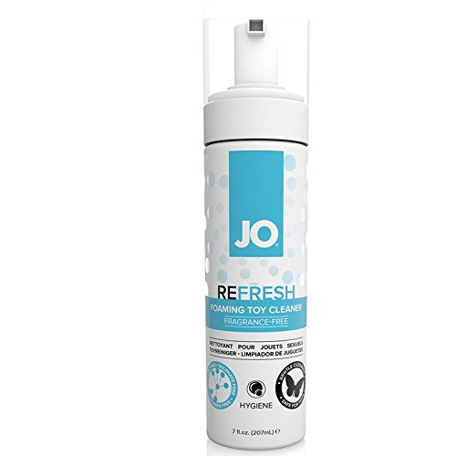 JO Refresh Foaming Toy Cleaner Dildo Vibrator Adult Toys - Best Cleaner ON The Market - Fragrance Free - 8 oz Ounces by JORefresh