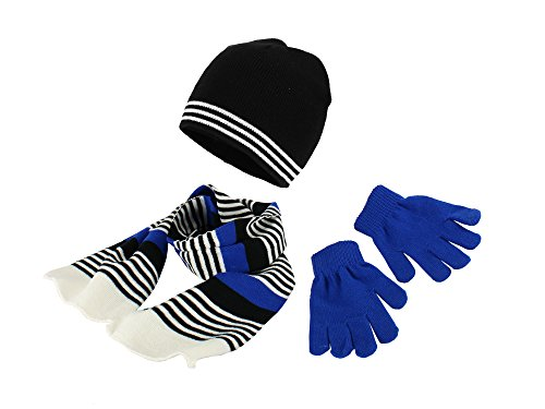 Polar Wear Boys Knit Hat, Scarf And Gloves Set - (Royal Fancy Dress Ideas)