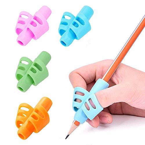 12 PCS Pencil Grips, Kids Handwriting Pencil Holder, Ergonomic Writing Aid, Posture Correction Finger Grip for Preschooler Children, 4 -