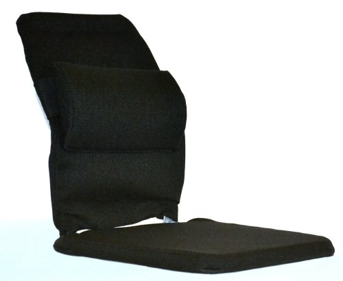 McCarty's Sacro-Ease Deluxe Model Seat Support with Adjustable Lumbar Pad on Back & 1