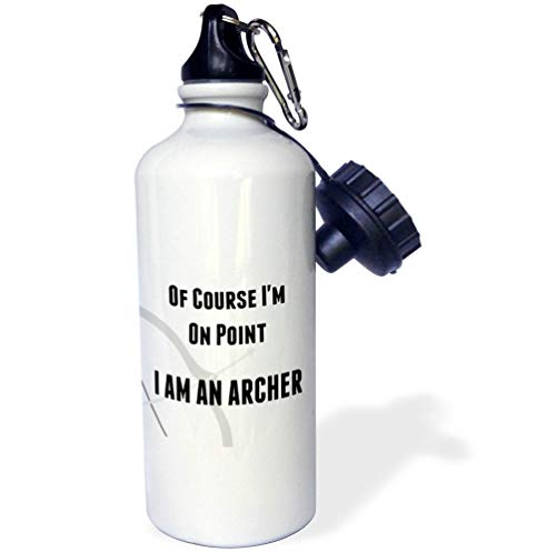 3dRose Carrie Merchant Image of of Course Im On Point Im an Archer - Flip Straw 21oz Water Bottle (wb_309662_2) ()