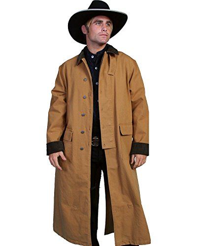 - Rangewear By Scully Men's Long Canvas Duster Brown Medium