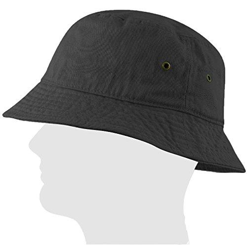 USBingoshop Men Women Unisex 100% Cotton Plain Color Boonie Safari Fishing Bucket Hat Cap 100% Cotton (Large/X-Large, (Ladies Bucket Hat)