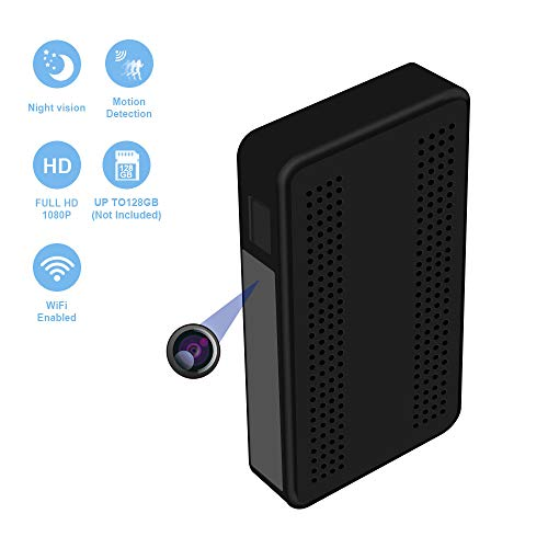 FUVISION Spy Camera Wi-Fi Black Box Hidden Camera with Advanced Motion Detection 365 Days Battery Life Night Vision P2P Live View Wireless Network Digital Video Recorder for Home Security