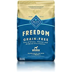 BLUE Freedom Senior Grain-Free Chicken Dry Dog Food 24-lb