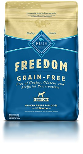 BLUE Freedom Senior Grain Free Chicken Dry Dog Food 11-lb