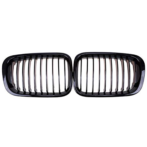 Grille Kidney Grill for BMW E46 3 Series 4 Door 1998-2001 Gloss Black Front Bumper Grille xuanL