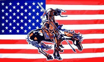 """3'x5' INDIAN """"END of the TRAIL"""" AMERICAN FLAG, us tears"""