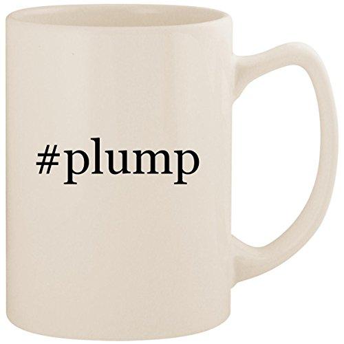 #plump - White Hashtag 14oz Ceramic Statesman Coffee Mug Cup (Ceramide Plump Perfect Lip Cream)