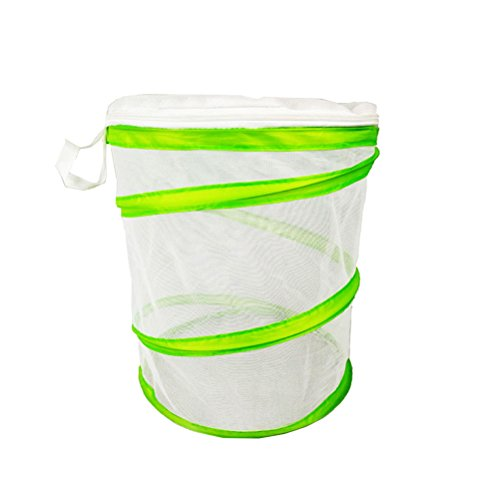 (Vosarea PVC Foldable Insect and Butterfly Habitat Cage Terrarium Pop-up(White))
