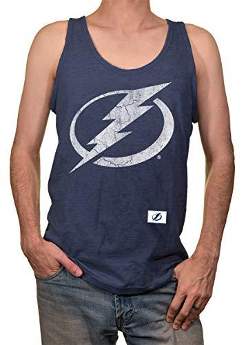 Calhoun NHL Men's Team Logo Tank Top (Tampa Bay Lightning, Large)