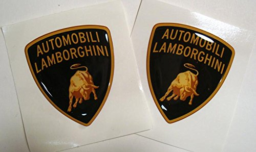 Lamborghini Resin Shield Decal Set Of 2 - Small Version