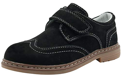 Shoes Boys Dress Wing-Tip Dress Comfort Oxford Twin Gore Dress Comfort Loafers (Little Kid/Big Kid) (Color : Black, Size : 8.5 M US Toddler)