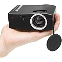 Led Projector Mini Portable Multimedia 1080p Full HD, Cheesea 1080p Projector Mini with AV/USB/TF/Power Input Port for Home Cinema Theater Multimedia