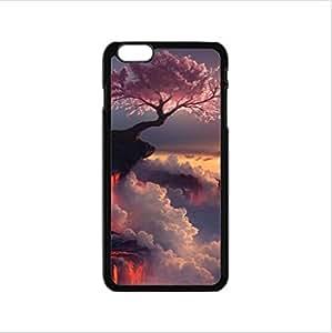 Japanese Cherry Blossom Tree pattern,The sakura art Custom Case for iPhone6 4.7inch PC case cellphone cover black