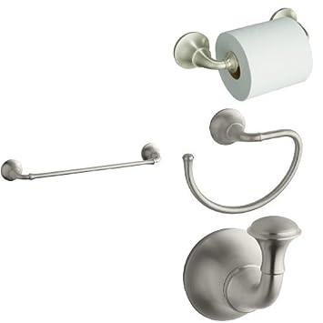 KOHLER Forte Traditional Piece Bath Accessory Set With In - Kohler forte bathroom accessories