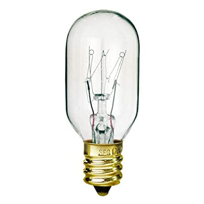 Bulbrite 706115 15T7 15W Incandescent Amusement & Appliance T7 Bulb with Candelabra Base, Clear